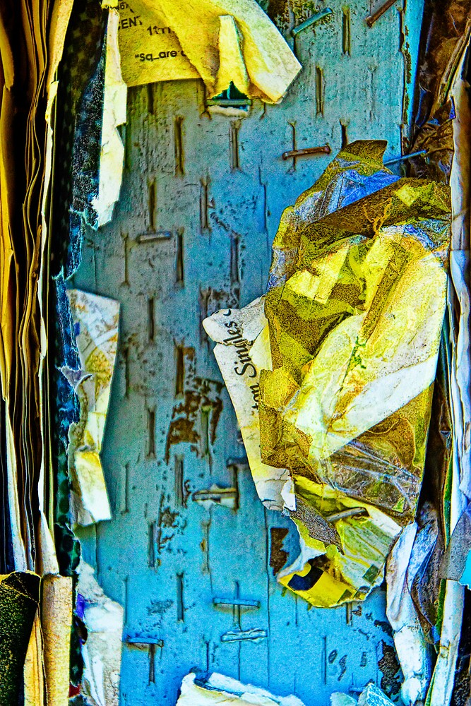 Tattered Paper on a Bulletin Board No. 1041 by Randall Nyhof