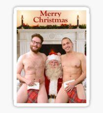 Merry Xmas from Seth & James Sticker