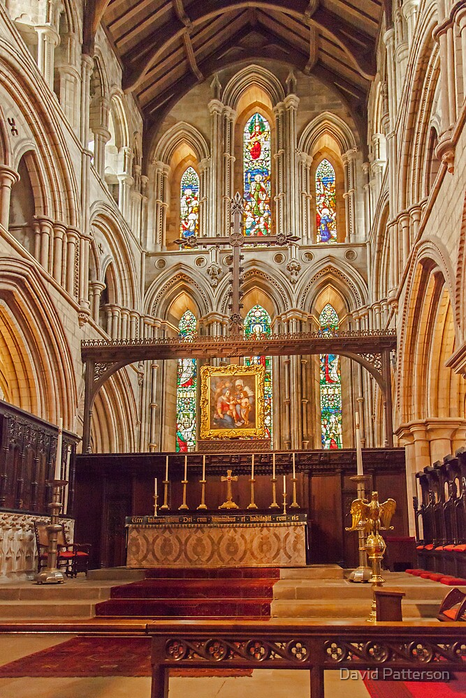 The Alter inside Hexham Abbey by David Patterson