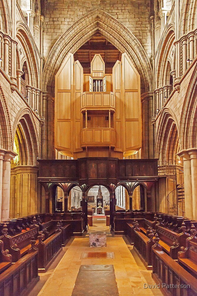 Inside Hexham Abbey by David Patterson