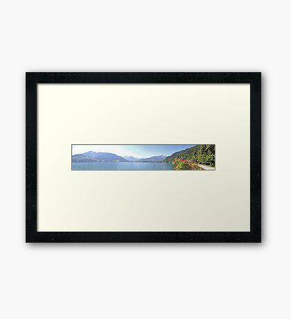 Zell Am See Lake: Panoramic Framed Print