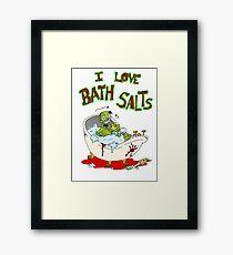 I Love Bath Salts Zombie Framed Print