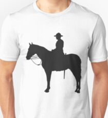Canadian Mountie Silhouette Unisex T-Shirt