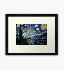 Reproduction of Starry Night Framed Print