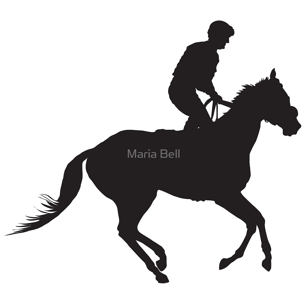 Jockey Silhouette by Maria Bell