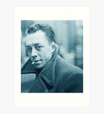 Albert Camus Blau Kunstdruck