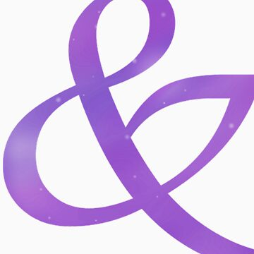 Purple Galaxy Ampersand Shirt by anadelis