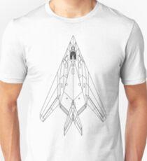 Lockheed F-117 Nighthawk Blueprint Unisex T-Shirt