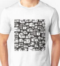 Lock a background3 Unisex T-Shirt