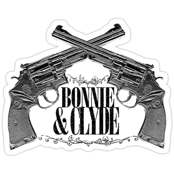 Quot Bonnie Amp Clyde Crossed Guns Quot Stickers By Elevensie