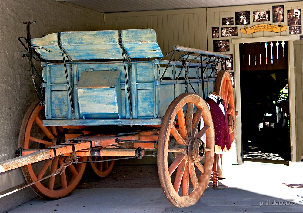 Buckwagon Blue by phil decocco