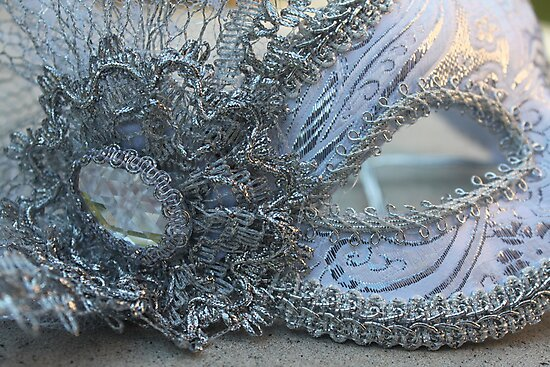 Laced Silver Mask by Molly Quinn
