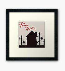Love house Framed Print