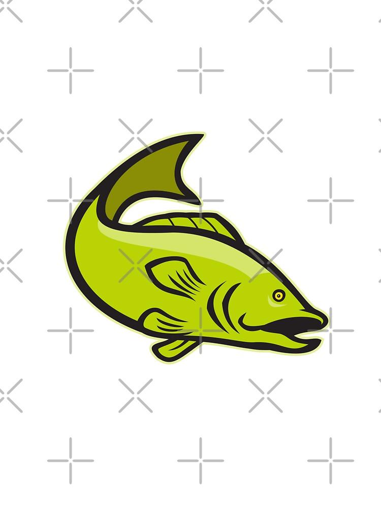 Largemouth Bass Jumping Cartoon by patrimonio