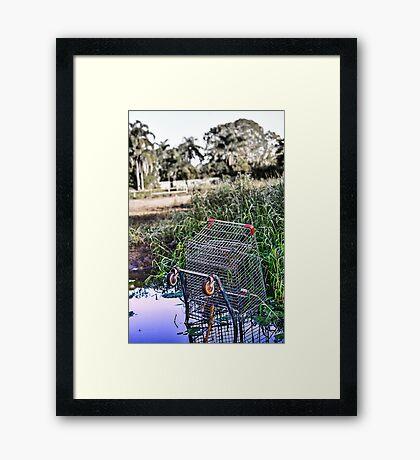 Suburban Mishap Framed Print