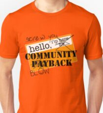 community BLOWBACK. T-Shirt