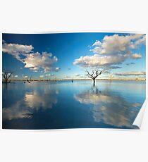 Cloud Makers - Lake Pinaroo, NSW Poster