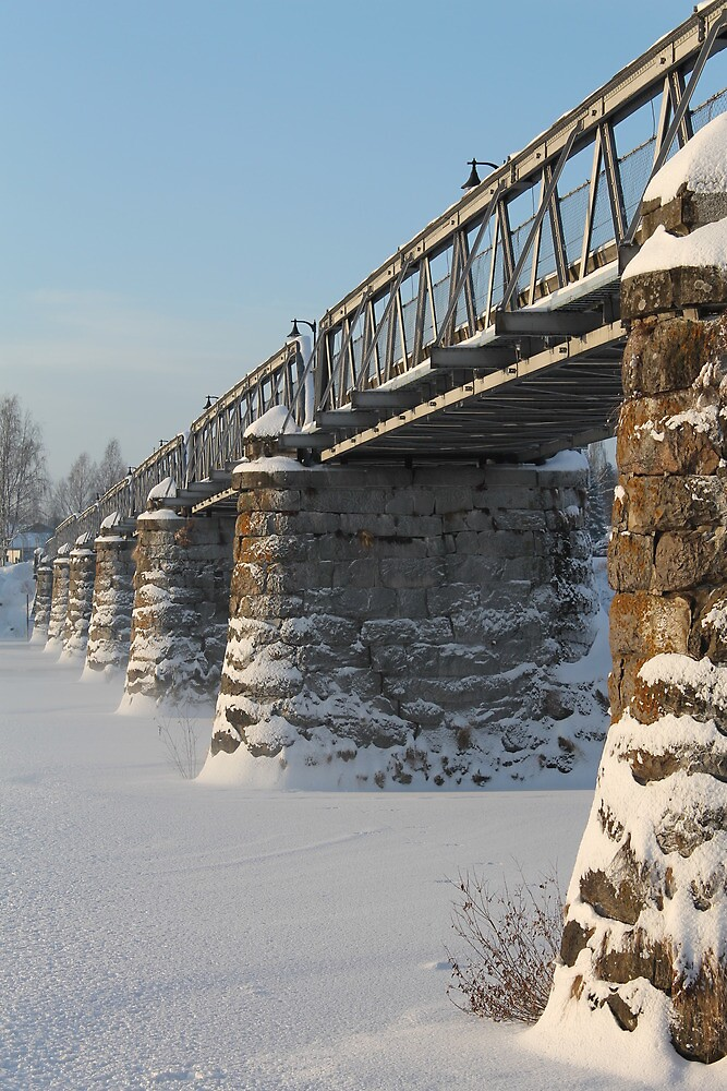 Old bridge over the river Glomma, Elverum, Norway. by UpNorthPhoto