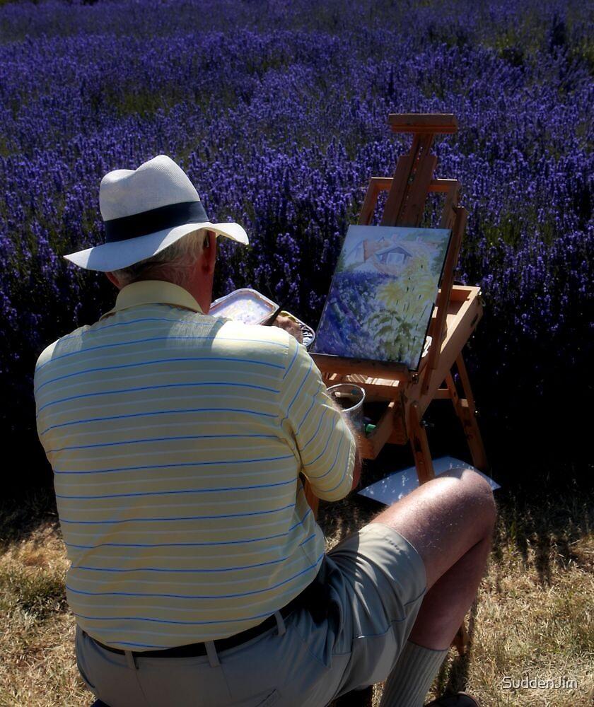 The Artist In Lavender by SuddenJim