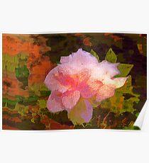 Pink gardenia Poster