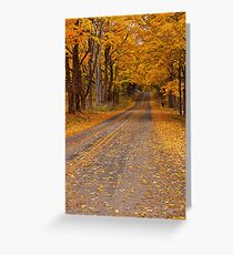 Fall Rural Country Road Greeting Card