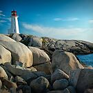 Peggys Cove Lighthouse in Nova Scotia - Number 142 by Randall Nyhof