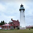 Seul Choix Point Lighthouse overview in Michigan by Randall Nyhof