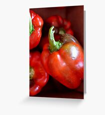 Crisp Red Peppers  Greeting Card