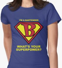 Bartender Superhero Women's Fitted T-Shirt