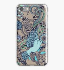 Flight of Fancy – aqua, mint, taupe iPhone Case/Skin