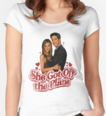 She Got Off The Plane Women's Fitted Scoop T-Shirt