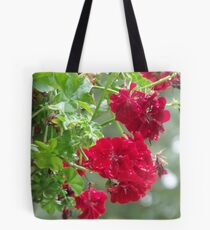 Bright Red Clusters Tote Bag