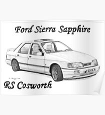 FORD SIERRA SAPPHIRE RS COSWORTH Poster