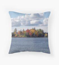 Autumn Waters in Muskoka Throw Pillow
