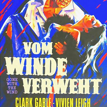 German poster of Gone with the Wind by artcinemagaller