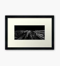 Skyline, Black & white Framed Print