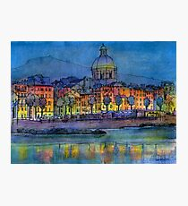 Genova pegli by night Photographic Print