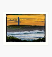 Wollongong City Beach-stacked Art Print