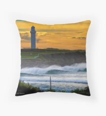 Wollongong City Beach-stacked Throw Pillow