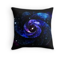 Warped Galaxy of Starlit Universe Throw Pillow