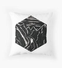 Ink & Mountains Throw Pillow