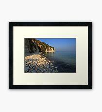 The Stunning Beach and White Cliffs at Danes Dyke - Flamborough Framed Print
