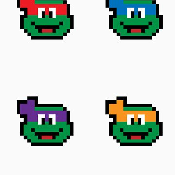 Teenage Mutant Pixel Turtles 2 by CK704