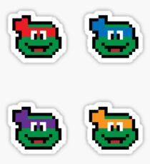 Teenage Mutant Pixel Turtles 2 Sticker