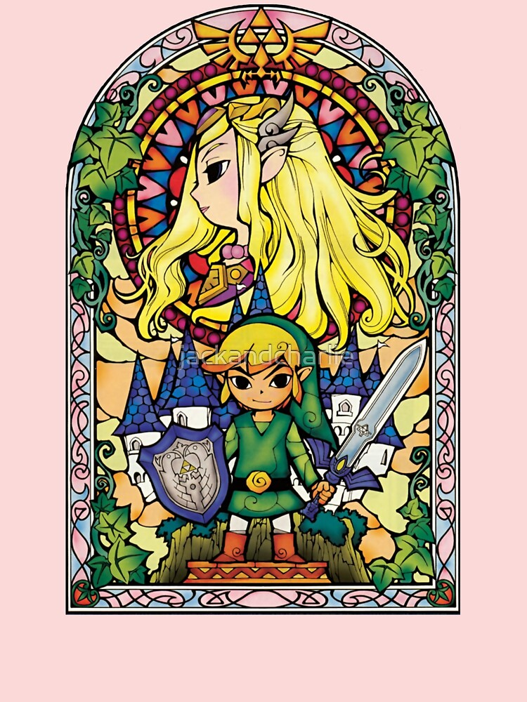 Zelda and Link Stained Glass iphone case