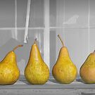 Four Pears on Windowsill by Randall Nyhof