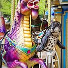Carousal Dragon and Seal on a Merry-go-round by Randall Nyhof
