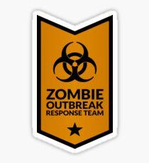 Zombie Response Team (Biohazard / Banner / Orange) Sticker