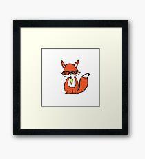 Clever Little Fox Framed Print