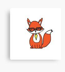 Clever Little Fox Canvas Print